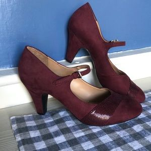 Like New Wine Colored Heels